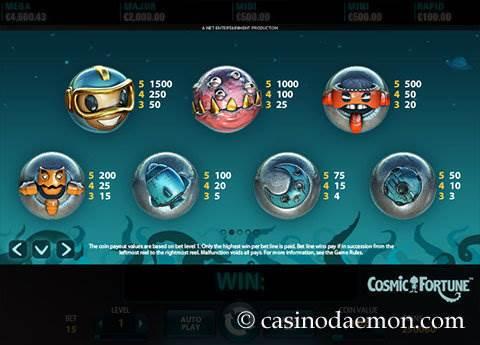 Cosmic Fortune slot screenshot 4