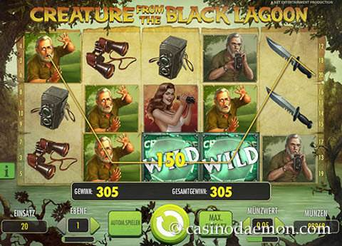 Creature From the Black Lagoon Spielautomat screenshot 2