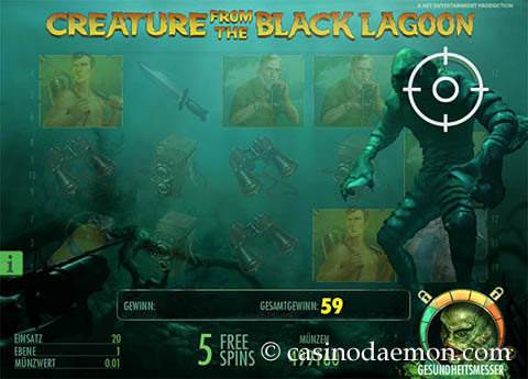 Creature From the Black Lagoon Spielautomat screenshot 3