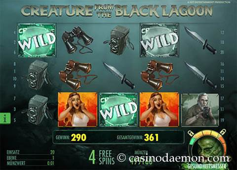 Creature From the Black Lagoon Spielautomat screenshot 4