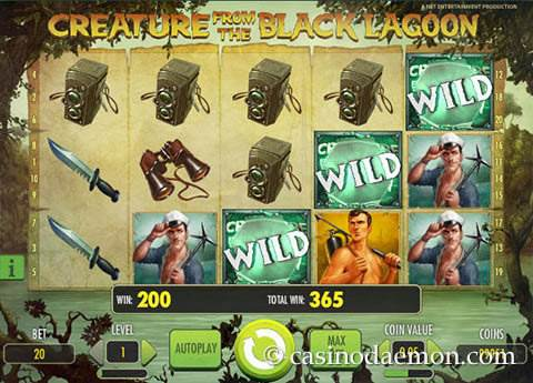 Creature of the Black Lagoon slot screenshot 2