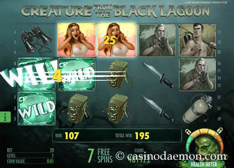 Creature of the Black Lagoon slot screenshot 3