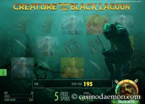 Creature of the Black Lagoon slot screenshot 4
