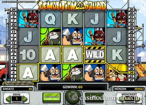 Demolition Squad Spielautomat screenshot 1
