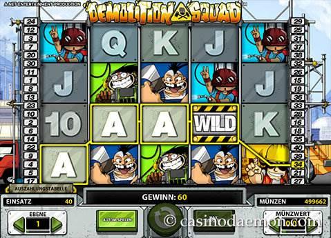 Demolition Squad Spielautomat screenshot 1
