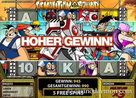 Demolition Squad Spielautomat screenshot 2