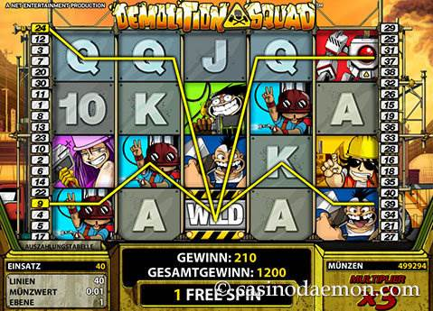 Demolition Squad Spielautomat screenshot 3