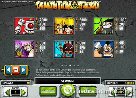 Demolition Squad Spielautomat screenshot 4