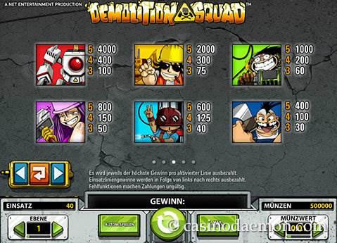 Demolition Squad Spielautomat screenshot 4