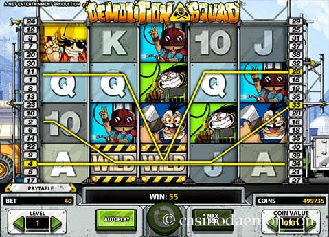 Demolition Squad slot screenshot 1