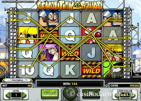 Demolition Squad's theme provides a fun and memorable slot experience.The reels roll smoothly and at lightning speed, and animations pop up often enough to keep the game fun.The control panel is redesigned to look like the buttons on a demolition tool, but still maintain the visual clarity that NetENT /5().Gölbaşı