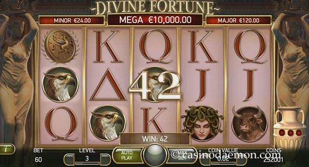 Divine Fortune Spielautomat screenshot 1