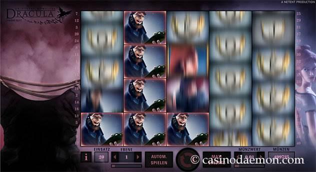 Dracula Spielautomat screenshot 2