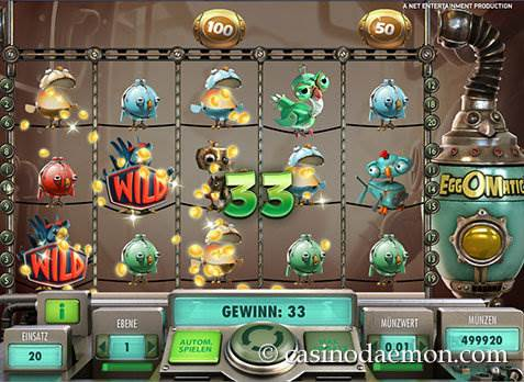 EggOMatic Spielautomat screenshot 1