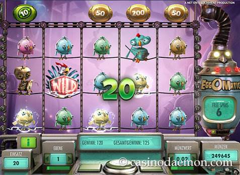 EggOMatic Spielautomat screenshot 3
