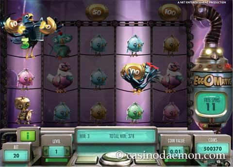 EggOMatic slot screenshot 4