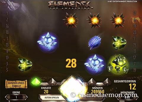 Elements Spielautomat screenshot 1