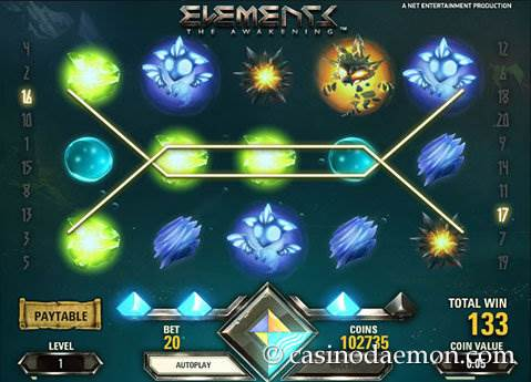 Elements slot screenshot 1