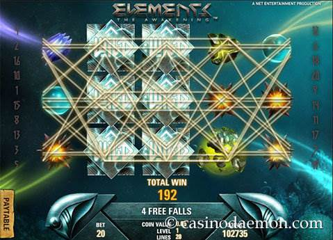 Elements slot screenshot 2