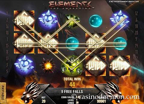 Elements slot screenshot 3