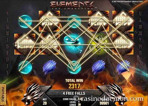 Elements slot screenshot 4