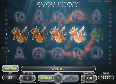 Evolution slot screenshot 1