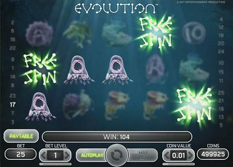 Evolution slot screenshot 2