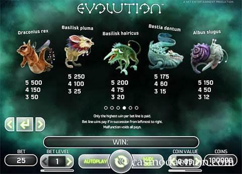 Evolution slot screenshot 4