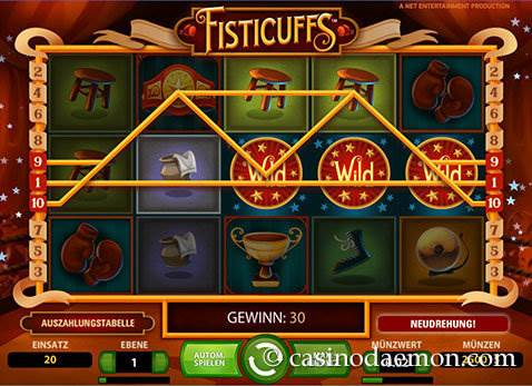 Fisticuffs Spielautomat screenshot 1