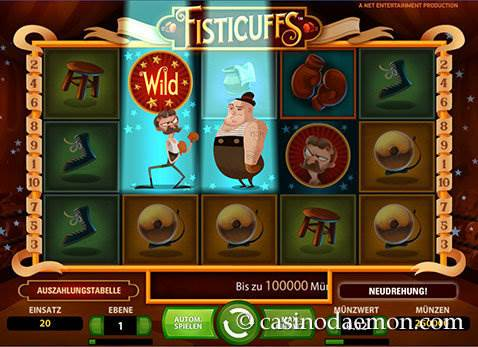 Fisticuffs Spielautomat screenshot 2