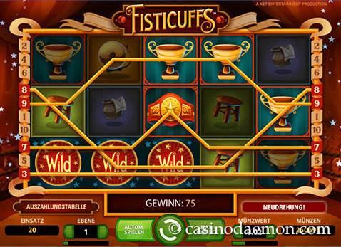 Fisticuffs Spielautomat screenshot 3