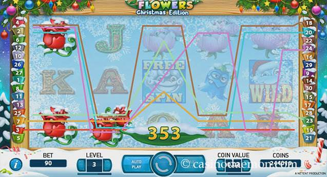 Flowers Christmas Edition Spielautomat screenshot 1