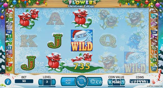 Flowers Christmas Edition Spielautomat screenshot 2