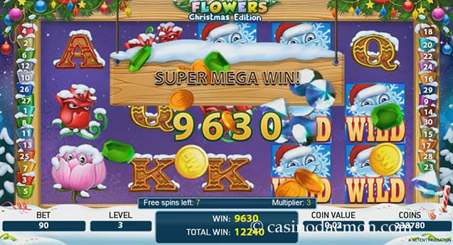 Flowers Christmas Edition Spielautomat screenshot 3