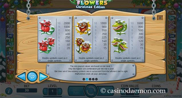 Flowers Christmas Edition Spielautomat screenshot 4