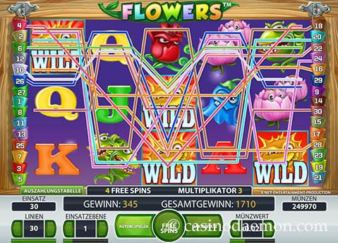 Flowers Spielautomat screenshot 2