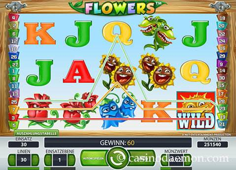 Flowers Spielautomat screenshot 3
