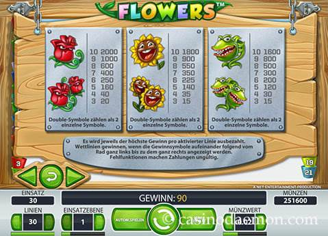 Flowers Spielautomat screenshot 4