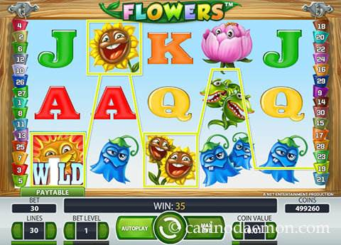 Flowers slot screenshot 1