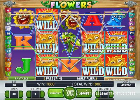 Flowers slot screenshot 3