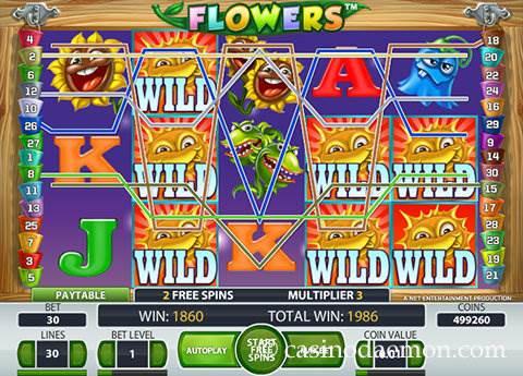 Flowers slot screenshot 3