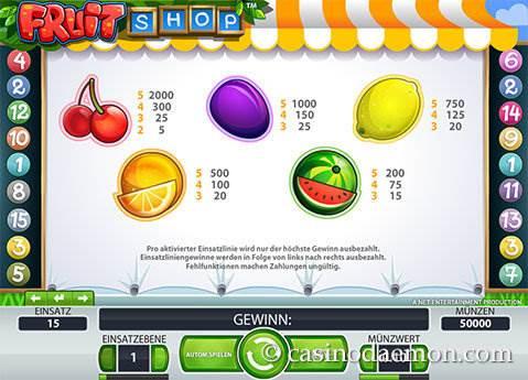 Fruit Shop Spielautomat screenshot 1