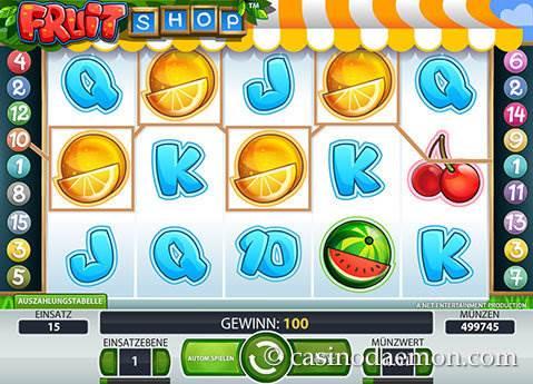 Fruit Shop Spielautomat screenshot 2