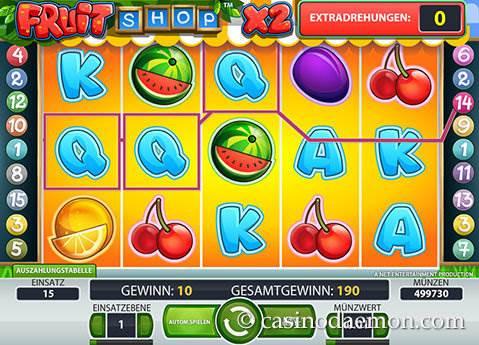Fruit Shop Spielautomat screenshot 3