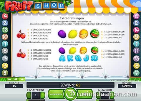Fruit Shop Spielautomat screenshot 4