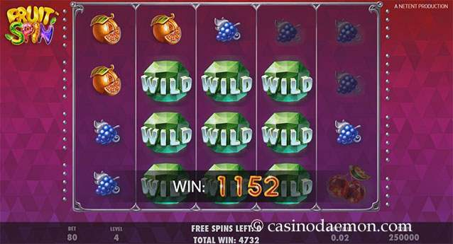Fruit Spin slot screenshot 2