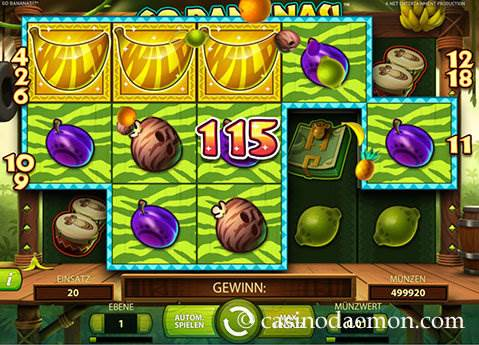 Go Bananas Spielautomat screenshot 1