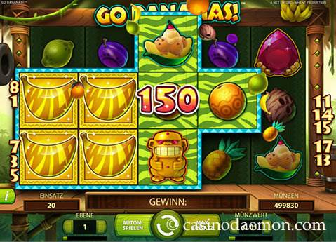 Go Bananas Spielautomat screenshot 2