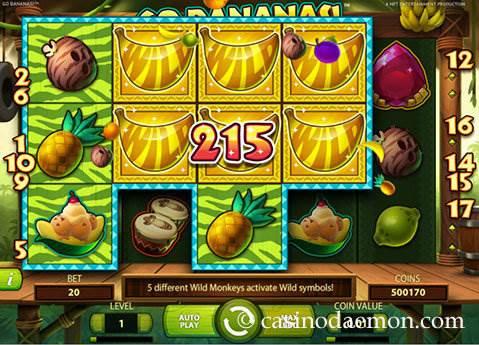 Go Bananas slot screenshot 2