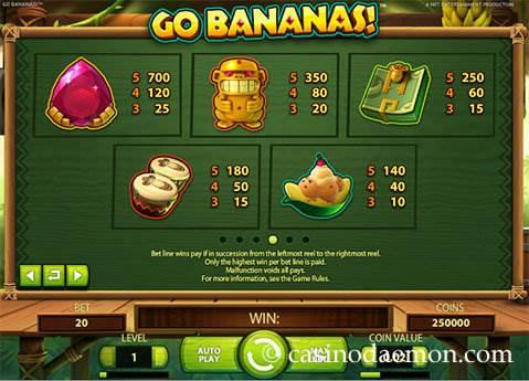 Go Bananas slot screenshot 4